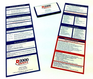Confined Space Reference Wallet Cards