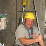 Fall Protection Student in harness