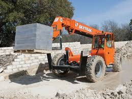 Telehandler and load