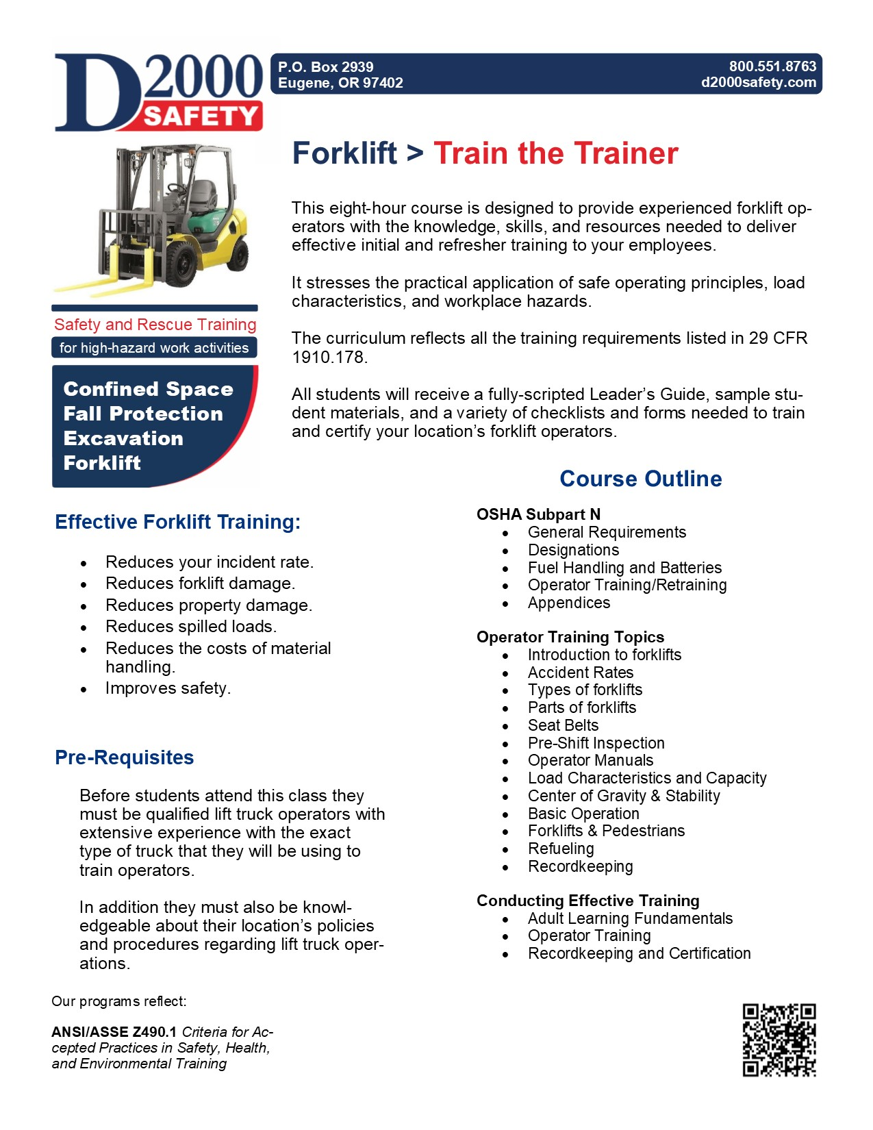 Forklift: Train the Trainer | D2000 Safety