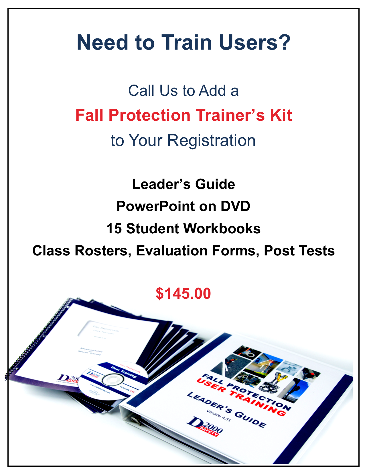 Fall Protection Trainers Kit